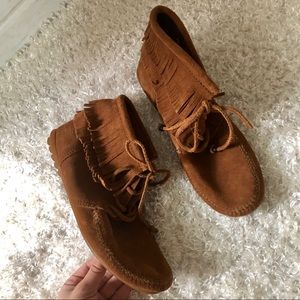 Never Worn Leather Moccasins